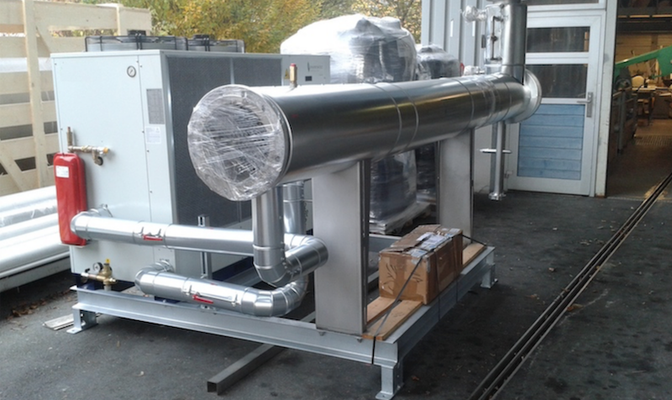 Secador de biogás - enfriador de biogás