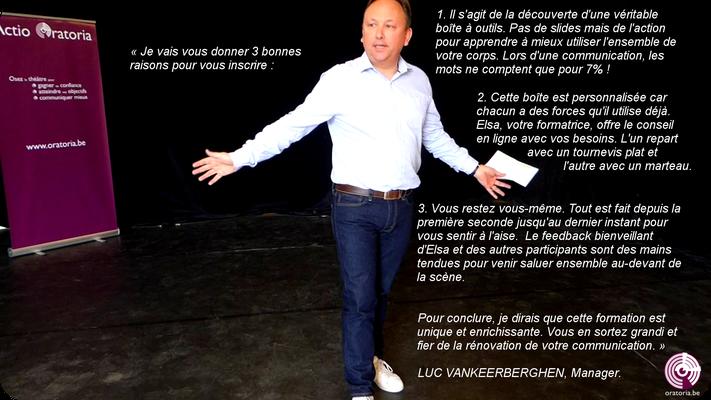 Luc Prise de Parole en Public Communication Belgique