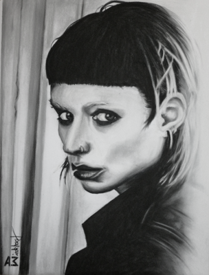 """Lisbeth I"", Soft Pastellkreide auf Velour-Malpapier, 30 x 40 cm, 2017"