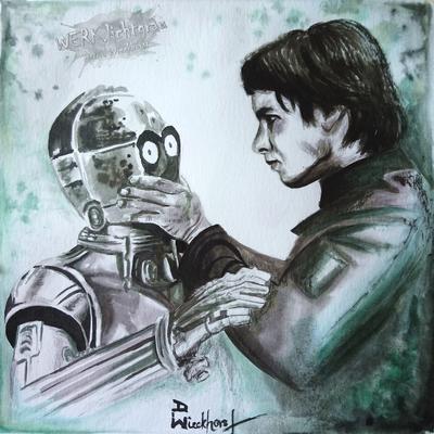"""C3PO"", Tinte, 19 x 19 cm"