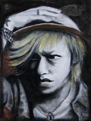 """""""Kyo"""", Pastellkreide auf Malpappe, 30 x 40 cm"""