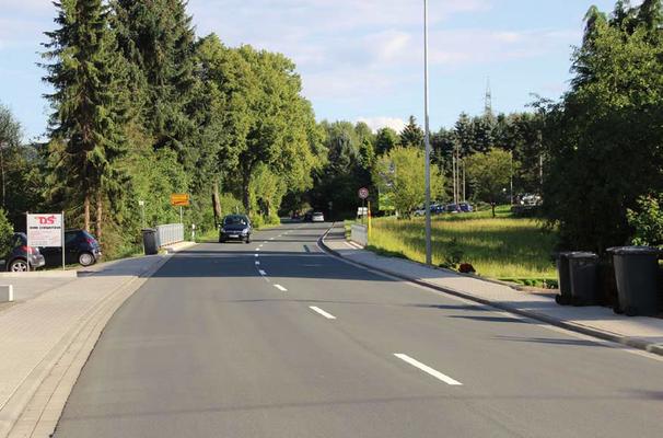 Ortsausgang Wiederstein (heute)