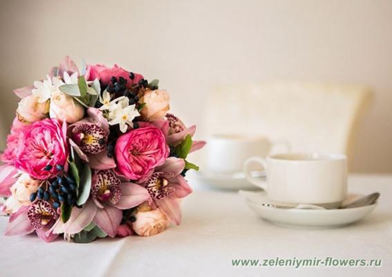 букет на свадьбу боковская