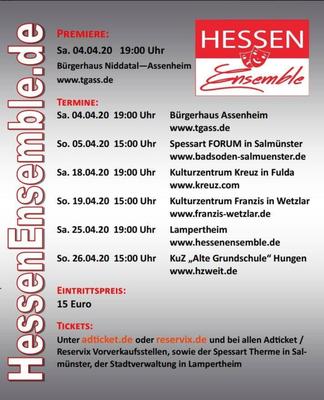 Das Hessenensemble gastiert in Hungen am 26.4.
