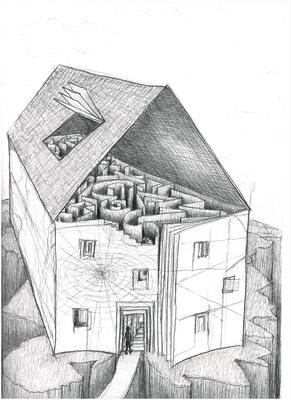 Verwinkeltes Haus