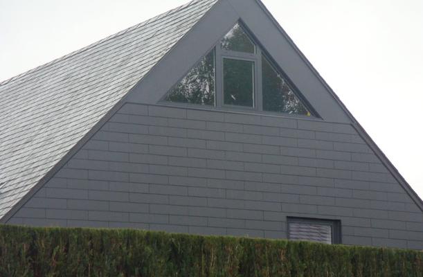 Pignon réalisé en ardoises Eternit en Brabant Wallon