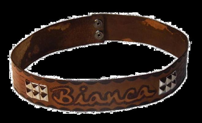 """Zierhalsband für Kunstoffhund """"Bianca"""