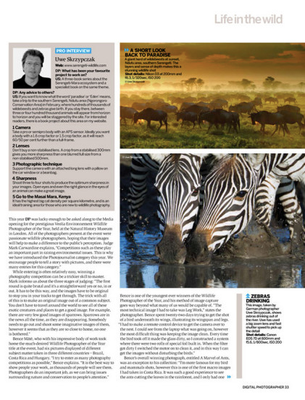 "Article with some of my pictures in UK's ""Digital Photographer"" magazine"
