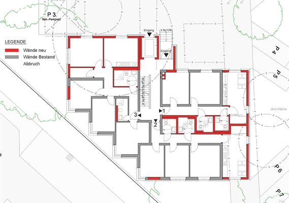 Erweiterung Wohnanlage für Studierende in der Bernkasteler Straße in Köln, Grundriss