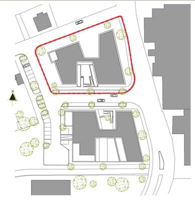 Neubau Studierendenwohnanlage in Gummersbach, Lageplan