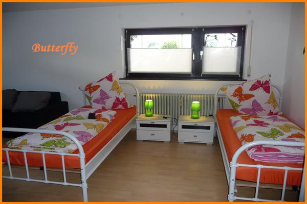 Unsere Traum Ferienwohnung Butterfly in Freiburg - ideal für Geschäftsreisende