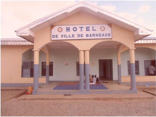 Barndaké dans la Bénoue. Hotel de ville