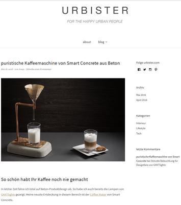 Coffee Maker aus Beton bei urbister.com