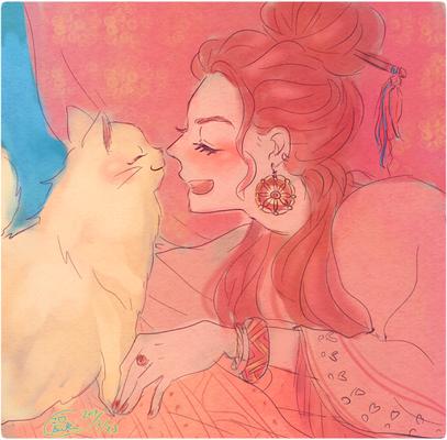 『猫と女性』使用ツール/SAI