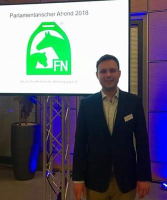 Kreisvorsitzender Ulrich Wensel beim parlamentarischen Abend 2018