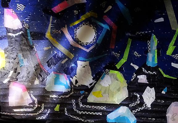 しゃりしゃりと、影落ちる/マスキングテープ PhotoshopCS6 2018,9.10
