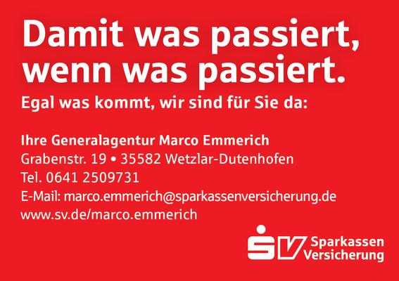 Getränke-Pate Generalvertretung SV Versicherung Marco Emmerich