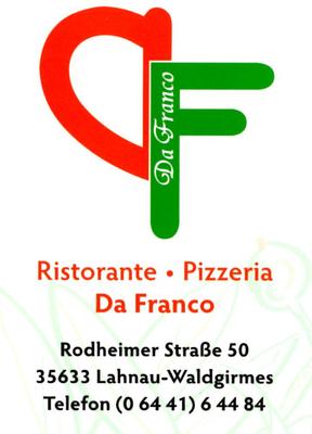 Getränke-Pate Pizzeria Da Franco