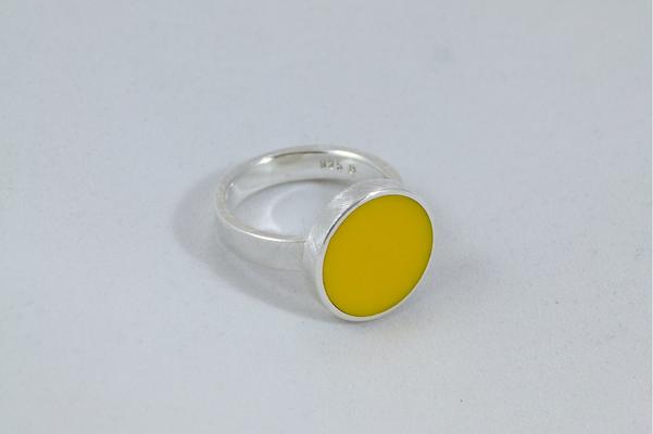 Kaltglasurring, gelb
