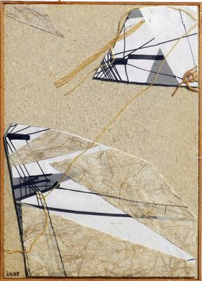 037 I Lai Maria 1975 Italia carta collage, mista 36,5x51,5 cm con cornice