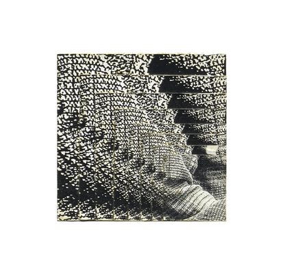 061 A Alba Savoi, s.t., 1988 Italia cartoncino montato su legno collage   19,5x19,5