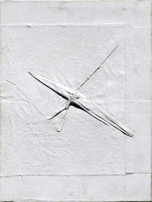 061 B Alba Savoi, s.t., s.d. Italia tela plissè su tela   30x40,5