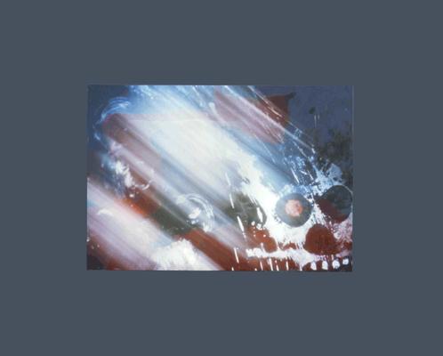 08 E, Bacino Gianni, s.t., s.d.,carta fotografia 50x40 ,5 magazzino temp. costante gradi 16/18 piano alto baule di legno, immagine fotografica astratta, con firma dell'autore sul retro