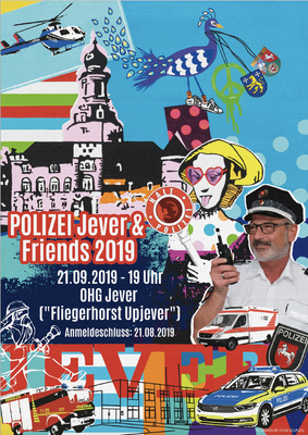 Kunde: Polizei Jever | Skills: Idee, Konzept, Grafik, Layout, Illustration und Umsetzung Plakat.