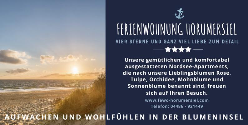 Kunde: Schildknecht / Ferienwohnung Horumersiel | Skills: Idee, Konzept, Grafik, Layout, Werbeschild