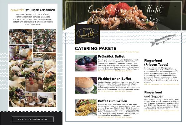 Kunde: Kristin Hecht - Häppchen & Meer | Skills: Idee, Konzept, Grafik, Layout, Illustration Flyer - Rückseite.