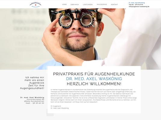 Kunde: Augenarzt Axel Waskönig Wardenburg
