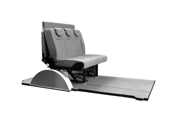 ergonomical Seat on track system for 3 passengers