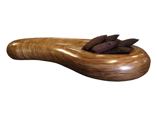 Pouf géant, canapé en bois, indoor-outdoor