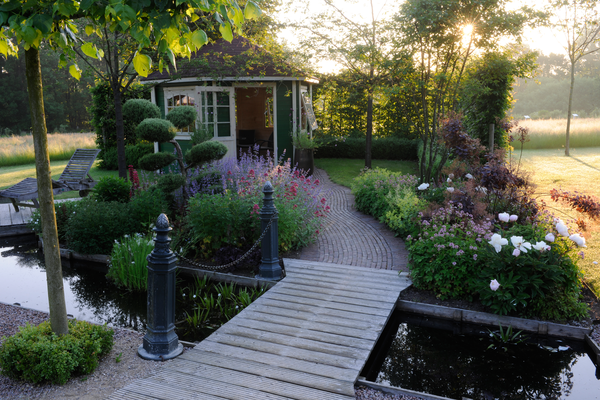 Auch im Garten.