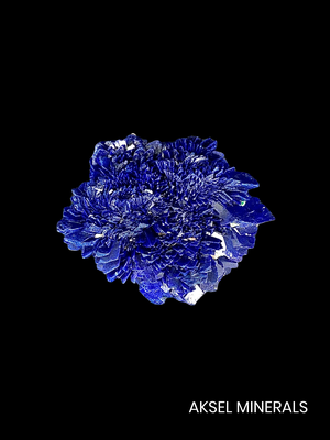 AM848 - Azurite rose - Kerrouchene, Khénifra, Maroc - 35x31mm