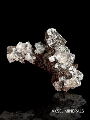AM834 - Fluorite et Sidérite stalactite - Boltsburn Mine, Rookhope District, Weardale, Durham Co., England, UK - 118x87mm
