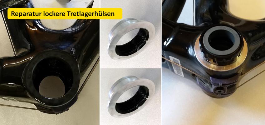 lockere Tretlager reparieren, Tretlager Carbonreparatur, Carbon reparieren Österreich, Triple-M, Triple M, carbon reparatur oberösterreich, Mayr Gerhard