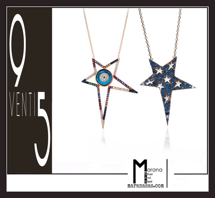Collane stelle zirconi multicolore