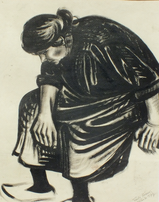 Tante Mina  1947  34 x 44 ( Tusche )