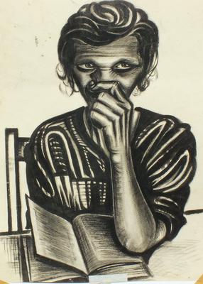 Mutter ( Johanne )  1947  39 x 48 ( Tusche )