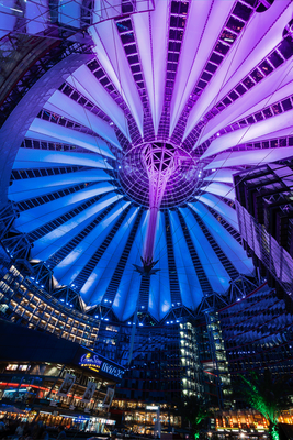 Dachkonstruktion des Sony Center am Potsdamer Platz