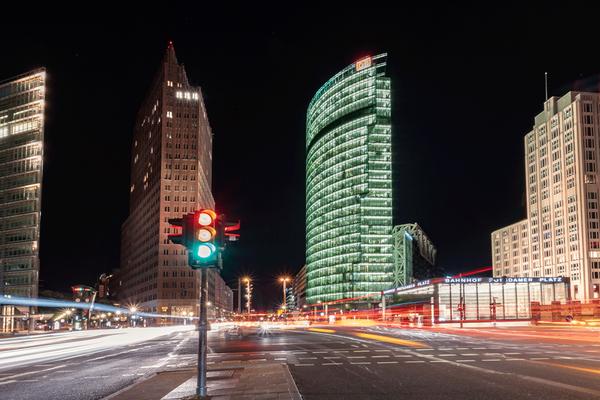 Potsdamer Platz - vielfrequentierter Verkehrsknotenpunkt