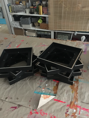 20x20cm Rahmen schwarz/silber