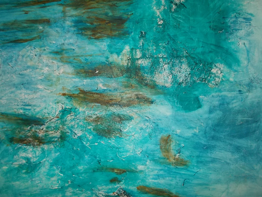 140 x 200 cm gerahmt Acryl und enamel auf Leinwand