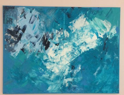 60 x 80 x 2 cm - Acryl, gespachtelt