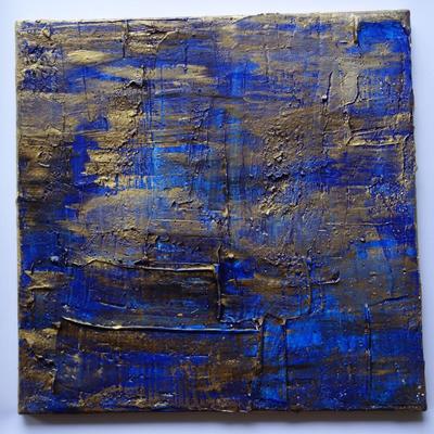 50 x 50 cm gespachtelt - Acry, Strukturmaterialien, gespachtelt