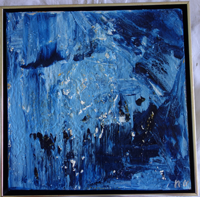 30 x 30 x 4 cm, Schattenfugenrahmen -  Acryl, Silikonöl, Wasser, Fließmedium, Spachtel