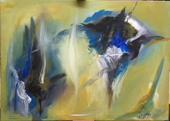 Vorlage: Abstrakte Landschaft von Andreas Strzempa (1)