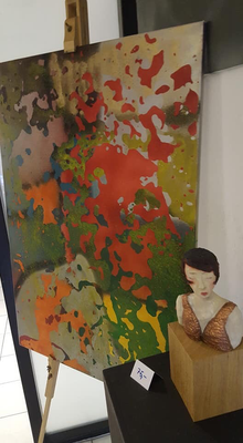 Uli Roters Bild, Jutta Arendes Skulptur