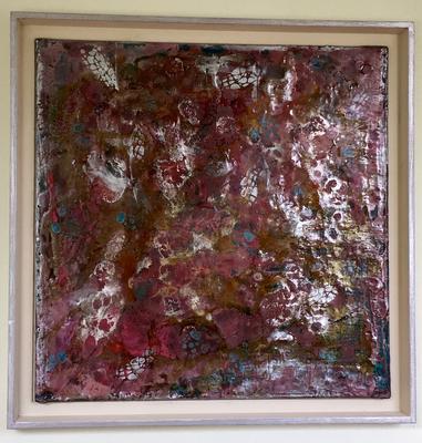 50 x 50 cm gerahmt - Wachs, Schellack